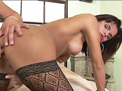 Dude licks and fingers tranny's luscious tight ass